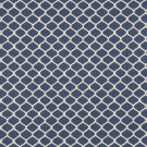 "54"""" Wide K0008E Blue and Off White, Modern, Geometric Designer Quality Upholstery Fabric By The Yar"