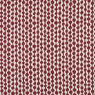"""54"""""""" Wide K0010A Red and Off White, Circle Striped, Designer Quality Upholstery Fabric By The Yard"""
