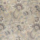 """54"""""""" Wide K0025D Blue, White and Gold, Abstract Floral Upholstery Fabric By The Yard"""