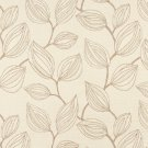 "54"""" Wide K0029B Beige and Off White, Large Leaves Contemporary Upholstery Fabric By The Yard"
