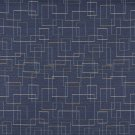 """54"""""""" C559 Blue Gold Green White Geometric Overlapping Squares Durable Upholstery Fabric By The Yard"""