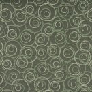 """54"""""""" C579 Dark Green, Green and White, Overlapping Circles, Durable Upholstery Fabric By The Yard"""