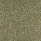 "54"""" C584 Green, Gold and White, Overlapping Circles, Durable Upholstery Fabric By The Yard"