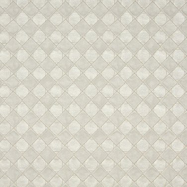 G795 Pearl, Shiny Diamonds and Squares Upholstery Faux Leather By The Yard