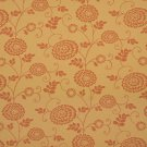K0115A Gold Orange Floral Vines Woven Solution Dyed Indoor Outdoor Upholstery Fabric By The Yard