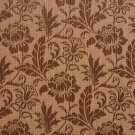 K0100A Brown Two Toned Floral Metallic Sheen Upholstery Fabric By The Yard | Width: 54""""
