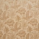 """K0100C Beige Two Toned Floral Metallic Sheen Upholstery Fabric By The Yard 