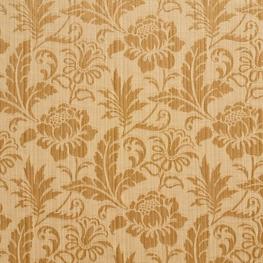 """K0100H Gold Two Toned Floral Metallic Sheen Upholstery Fabric By The Yard 