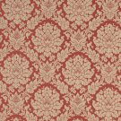 """A455 Tan And Red Two Toned Floral Brocade Upholstery Fabric By The Yard 