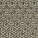 """A480 Tan And Midnight Waves Lines And Foliage Upholstery Fabric By The Yard 