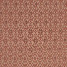 """A481 Coral And Tan Waves Lines And Foliage Upholstery Fabric By The Yard 