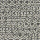 A486 Navy, Tan And Burgundy Waves Lines And Foliage Upholstery Fabric By The Yard | Width: 54""""