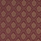 A489 Burgundy And Gold Two Toned Brocade Medallion Upholstery Fabric By The Yard | Width: 54""""