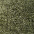 "K0151Q Dark Green Textured Alligator Shiny Woven Velvet Upholstery Fabric By The Yard   54"""" Wide"