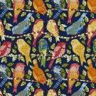 A272 Outdoor Indoor Marine Upholstery Fabric By The Yard Contemporary Various Birds - Blue Red Green
