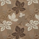 A391 Brown and Ivory Large Leaves Textured Metallic Upholstery Fabric By The Yard | Width: 54""""