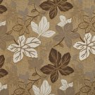 """A395 Beige and Ivory Large Leaves Textured Metallic Upholstery Fabric By The Yard 