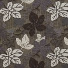 A396 Brown Silver Ivory Large Leaves Textured Metallic Upholstery Fabric By The Yard | Width: 54""""