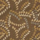 A041 Brown and Grey Leaves and Vines Textured Matelasse Upholstery Fabric By The Yard