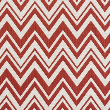 U0010D Red And White Zig Zag Chevron Upholstery Fabric By The Yard