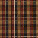U0140C Red, Midnight And Gold Checkered Silk Satin Look Upholstery Fabric By The Yard
