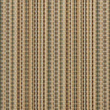 U0180D Green, Gold And Light Blue Woven Striped Silk Satin Look Upholstery Fabric By The Yard