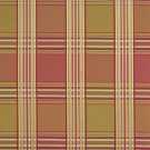 U0220B Pink Peach Green Shiny Various Size Stripes Plaid Silk Look Upholstery Fabric By The Yard