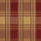U0220D Red And Gold Shiny Various Size Stripes Plaid Silk Satin Look Upholstery Fabric By The Yard