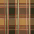 U0220F Green Gold Burgundy Shiny Various Size Stripes Plaid Silk Look Upholstery Fabric By The Yard