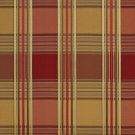 U0220G Red And Green Shiny Various Size Stripes Plaid Silk Satin Look Upholstery Fabric By The Yard