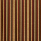 U0230B Burgundy, Gold And Green Shiny Thin Striped Silk Satin Look Upholstery Fabric By The Yard