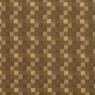 U0240A Green And Brown Checkered Silk Satin Look Upholstery Fabric By The Yard