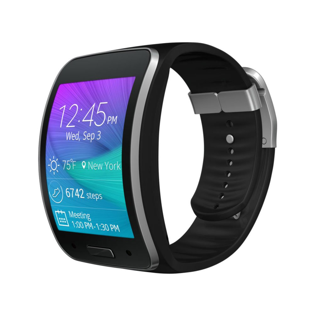 Samsung Galaxy Gear S Curved Smart Watch Charcoal Black ...