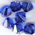 Swarovski Crystal 24 Sapphire 4mm Bicones 5301