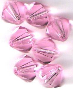 Swarovski Crystal 24 Light Rose 4mm Bicones 5301