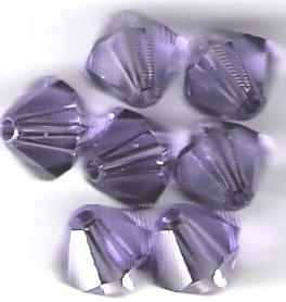 Swarovski Crystal 24 Tanzanite 4mm Bicones 5301