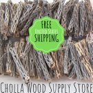 "100 Pieces 6"" Cholla Wood - Dried Cholla Cactus Aquarium Decor"