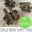 "50 Pieces 4"" Cholla Wood - Dried Cholla Cactus Aquarium Decor"