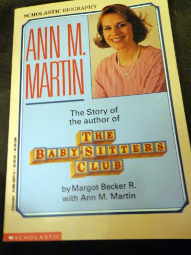 Biography of Ann M Martin - Author of Babysitter's Club - Autographed Copy