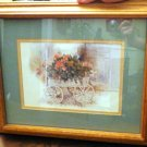 Framed Art by Dalina Darton Flower Cart, Dated 1985