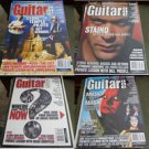 Lot of 4 Back Issues of Guitar One Magazine: Mar 01, July 01, Sept 01, Feb 02