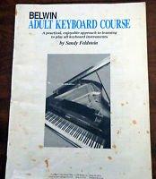 Belwin Adult Keyboard Course By Sandy Feldstein 1991 Edition