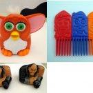 McDonald's Toys: Furby, Interlocking Combs, 2 Shan Yu (Mulan) Figures