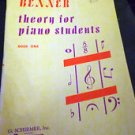 Benner Theory for Piano Students Book 1 - G Schirmer, INC