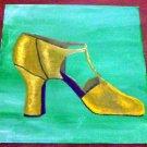 Original Art Work: Yellow Shoe (Acrylic on 12x12 Canvas)