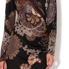 Hale Bob Long Sleeve Silk Dress Size Small, Style number 1AEX6849