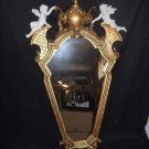 Gold Decorative Mirror with Small Cherubs