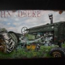 "3D Metal ""JOHN DEERE "" Tractor Sign for your Shop, Barn or Man Cave"