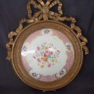 Gorgeous French Style Gold Framed Porcelain Plaque