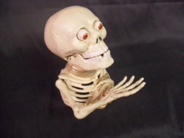 Cast Iron Painted Skeleton Mechanical Bank